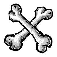 Icône de vecteur d'os