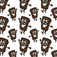 modèle sans couture de dessin animé de barre de chocolat