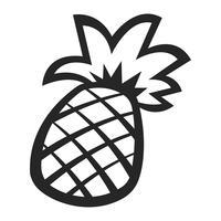 Fruit d'ananas vecteur
