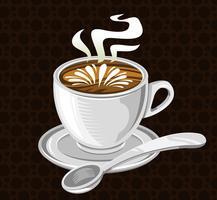 Icône de vecteur de boisson au café