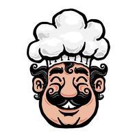Chef de bande dessinée souriant vecteur