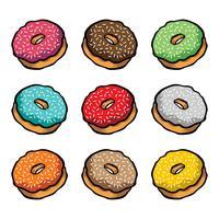 Icône de vecteur de dessin animé Donut