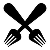 Fourchette à manger vecteur