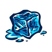 Glaçons glacés pour boissons vecteur