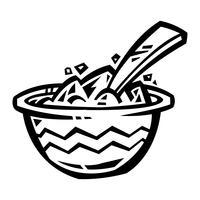 Bol d'icône de vecteur de céréales