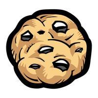 Cookie aux pépites de chocolat vecteur