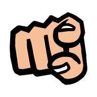 icône de vecteur de point de doigt