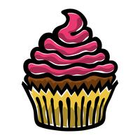 Icône de vecteur de petit gâteau