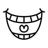 Grande icône de vecteur sourire heureux dessin animé