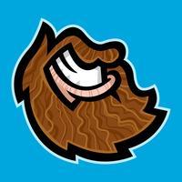 Barbe vecteur