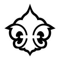 Fleur de lis symbole vecteur