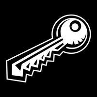 Serrure à clé en métal