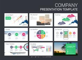 Modèle de diapositive de présentation pour votre entreprise avec des éléments infographiques.