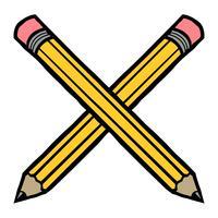 Vecteur de crayon jaune