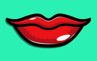 Icône de vecteur de lèvres sexy