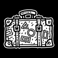 Icône de vecteur de valise de voyage