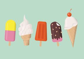 Crème glacée d'été mis en illustration vectorielle vecteur