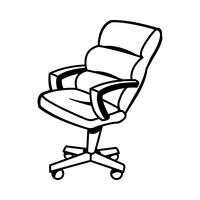 Illustration vectorielle de chaise de bureau