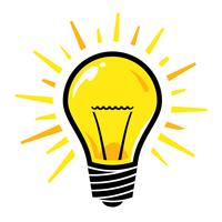 Icône de vecteur d'ampoule