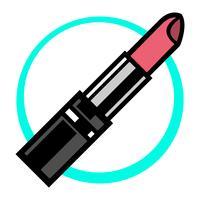 Icône de vecteur de rouge à lèvres