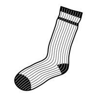 Chaussettes Vêtements pour les pieds vecteur