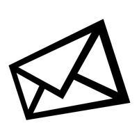 Enveloppe icône illustration vectorielle
