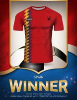 Coupe de football 2018, concept vainqueur de l'Espagne. vecteur