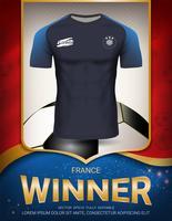 Coupe de football 2018, concept vainqueur de France. vecteur