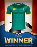Coupe de football 2018, concept vainqueur du Sénégal. vecteur