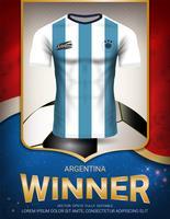 Coupe de football 2018, concept gagnant de l'Argentine. vecteur