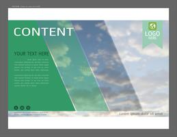 Mise en page de présentation pour modèle d'affaires, Inspiration pour votre conception tout support. vecteur