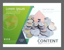 Modèle de conception de mise en page de présentation pour les entreprises ou la finance et l'investissement. vecteur