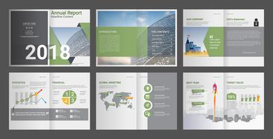 Rapport annuel pour la brochure sur le profil de l'entreprise et l'agence de publicité.