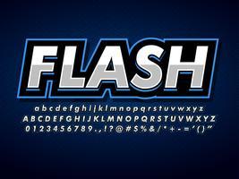 Modèle de logo de sport bleu professionnel moderne