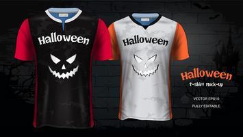 Costume d'Halloween T-Shirts Maquette Modèle. vecteur