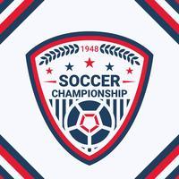Badge de football de qualité supérieure vecteur