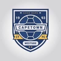 Promotion Badge Football vecteur