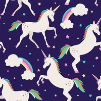 illustration vectorielle transparente motif de licorne pourpre