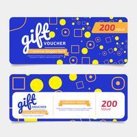 Bon cadeau, modèle de coupon doré, concept de design pour bon cadeau