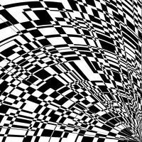 Noir et écrire l'abstrait de perspective.