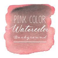 Fond aquarelle abstraite rose. Illustration vectorielle