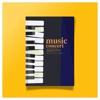 Conception de la brochure Concept de concert de musique, Couverture moderne, Rapport annuel, Flyer au format A4 Couverture de la brochure.