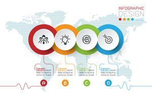 Les étiquettes de cercle d'affaires forment la barre de groupes infographiques.