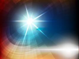 Résumé de lumière bleue sur fond sombre. vecteur