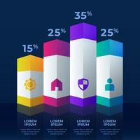 Modèle de conception conceptuelle élément infographie 3d