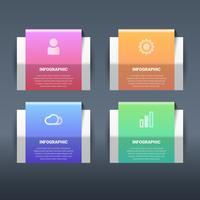 Éléments d'infographie papier 3d abstrait vectoriel