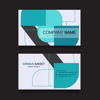 Carte de nom, modèle de carte de visite simple moderne. Illustration vectorielle