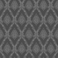 Décoration d'arrière-plan art thaïlandais motif ligné sans soudure. vecteur