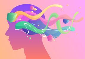 Vecteur de santé mentale liquide coloré