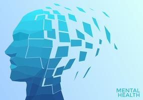 Vecteur de santé mentale tête géométrique
